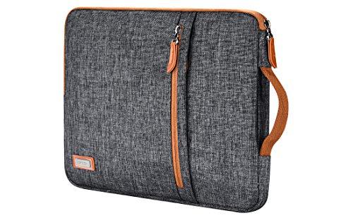 LONMEN Capa para laptop de 10,1 polegadas resistente à água Tablet bolsa protetora alça de transporte para iPad Pro de 10,5 polegadas iPad Air 2/10,1 polegadas Surface Go/Samsung Galaxy Tab S2 S3 S4/10,1 polegadas Lenovo Yoga Tab 3, cinza escuro