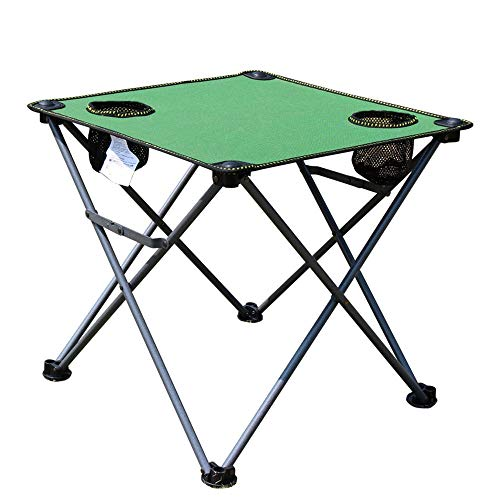 WPCBAA Outdoor Folding Fishing Beach Barbecue Picnic Camping Table, Draagbaar Lichtgewicht Oxford Doek Stalen Buistafel, Kleine Casual Tafel met Anti-slip Plastic Voeten Cover outdoor klaptafel