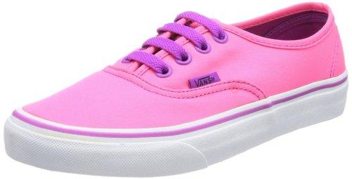 Vans U AUTHENTIC VTSV8PV Unisex-Erwachsene Sneaker, Pink (neon Pink/pur), 35