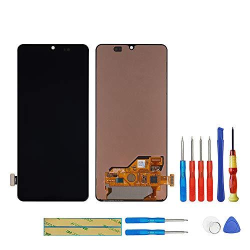 swark Super AMOLED Pantalla Compatible con Samsung Galaxy A80 SM-A805F, SM-A8050 (Negro sin marco) Pantalla LCD táctil digitalizador, cristal Assembly + herramientas