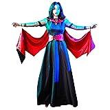 Goddessvan Fashion Women Halloween Cosplay Patchwork Vintage Lace Long Skirt Costume Bat Dress