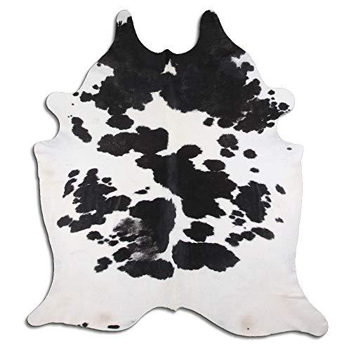 By Max Kuhfell Teppich 2241 Large Farbe: Schwarz-weiß Größe: 225 x 200 cm - Qualität Leder