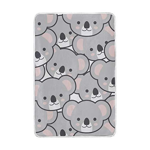 Mnsruu Manta para sofá Cama, diseño de Dibujos Animados de Koala Emoji cálido y Suave Manta de Cama de 152 x 229 cm