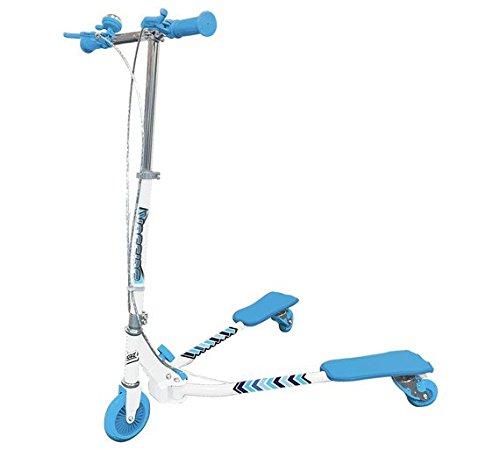 Ozbozz- Patinete antideslizante con 3 ruedas, color azul con asas de fácil agarre