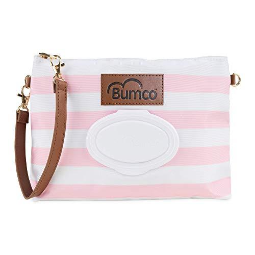 Baby Bumco Wickeltasche, wasserabweisend, leicht, nachfüllbarer Feuchttuchspender, tragbares Wickelset (Pretty Pink)