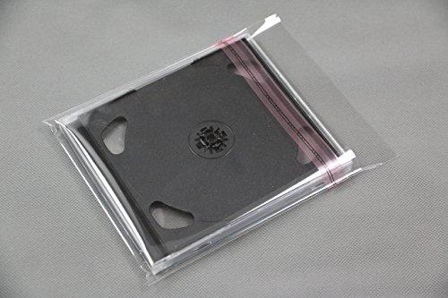 Schutzhüllen für Blu ray CD DVD Box aus Folie mit Adhäsionsverschluss für 10 mm Jewel Case (100 St.)
