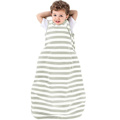 Ecolino Organic Cotton Toddler Sleep Bag or Sack - Toddler Sleeping Bag - 18-36 Mo, Silver