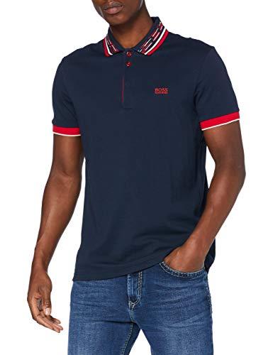 BOSS Herren Paddy 1 Polo Shirt, Navy (410), L EU