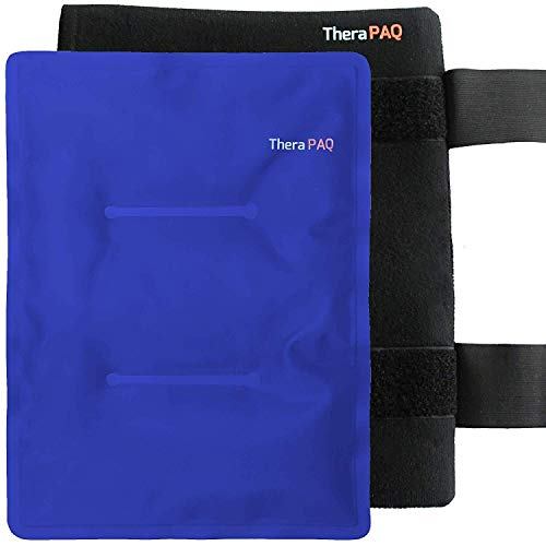 """Large Wrap with Ice Pack for Injuries by TheraPAQ - Hot & Cold Therapy for Hip, Shoulder, Back, Knee - Reusable Pain Relief for Injury Recovery, Swelling, Bruises & Sprains (XL Blue Pack: 14"""" X 11"""")"""