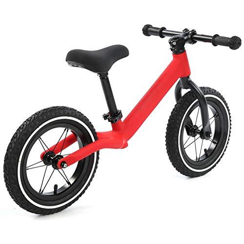 Qqmora Bicicleta de Equilibrio de Metal Super Junior Bicicleta equilibrada para niños Que cultiva el interés por el Juego de Deportes al Aire Libre(Red)
