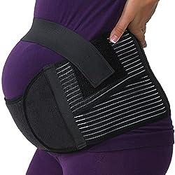 small Neotech Care Maternity Belt / Pregnant Women's Brace-Back, Belly, Belly Brace (Black, M)