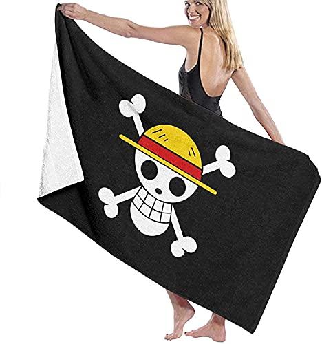 QWAS Toallas de playa de One Piece, toallas de baño, toallas de dibujos animados, toallas de playa sin arena, apariencia elegante (A04,100 x 180 cm)