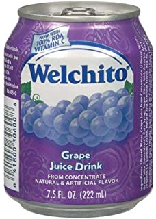 WELCHITO Grape Juice Drink 7.5 Fl Oz Can (Count of 6)
