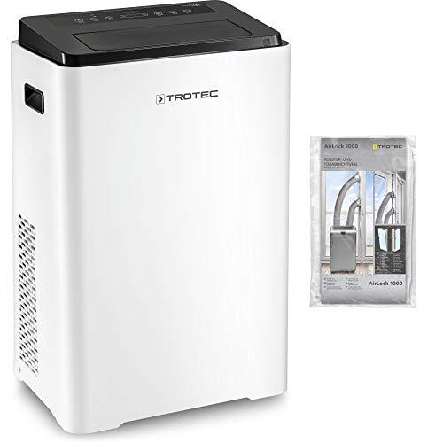 TROTEC Lokales mobiles Klimagerät PAC 3900 X mit 3,9 kW/13.300 Btu 3-in-1-Klimagerät inkl. Fensterabdichtung Airlock 1000