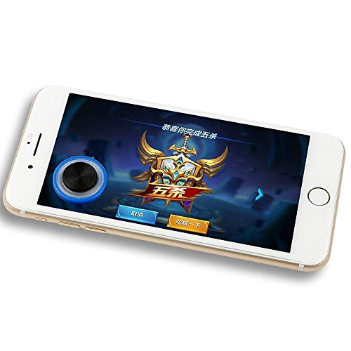 Vektenxi Telefon Game Controller Touchscreen Saugnapf Game Joystick für Telefon blau stilvoll