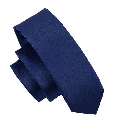 Black Temptation Tie Cravate d'affaires Cravate Bleu foncé Hommes - 14,5 * 5 cm