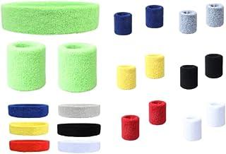 21-delige set zweetbanden voor kinderen, kleurrijke sportarmbanden, hoofdband, polsband, polsband, zweetbandenset voor kin...