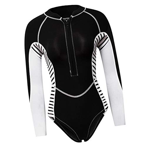 Z.L.FFLZ Nadelanzug 2MM NeoprenWetsuit Frauen Langarm-Sporttauchen Taucheranzug Badeanzug Rash Guard Wetsuit for Surfen Schwimmen Tauchanzug (Color : Black S)