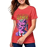 Cotton Women Short-Sleeved T-Shirt Tame Impala Fitness T-Shirt Red