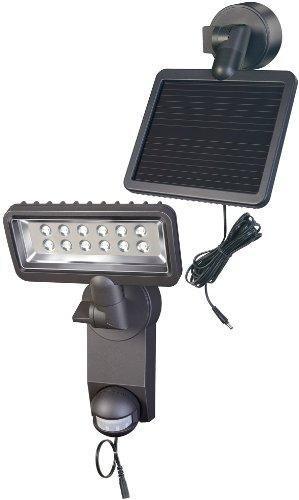 Brennenstuhl LED-Strahler Premium SOL SH / LED-Leuchte für außen mit Bewegungsmelder (IP44, inkl. Solar-Panel und Akku, 12 x 0,5 W) Farbe: anthrazit