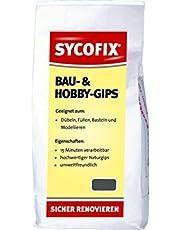 SYCOFIX Bouw- en hobbygips, 5 kg voor het plaatsen van pluggen, het vullen van gaten, knutselen en modelleren
