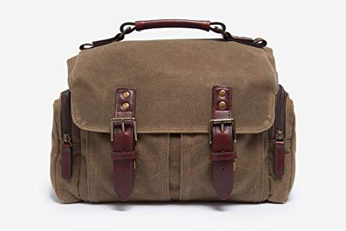 ONA - The Sedona - Bolso de hombro para cámara - Lona encerada con detalles de cuero de grano completo - Field Tan (ONA5-085RT)