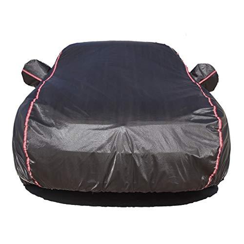 Smaw Omni Car Cover Anti Freeze-Sunproof Storm-Proof mit Reißverschluss-Tür-Reflexstreifen Corvette Zubehör (Color : Black)