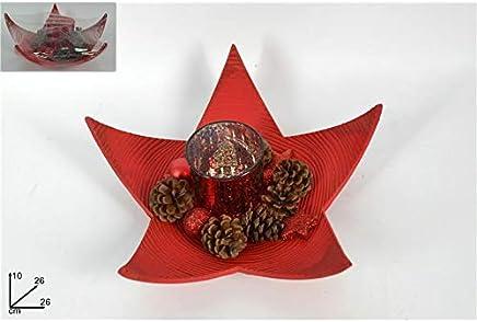 Stella Di Natale Con Bottiglie Di Plastica.Amazon It Bicchieri Rossi Decorazioni Natalizie Addobbi E