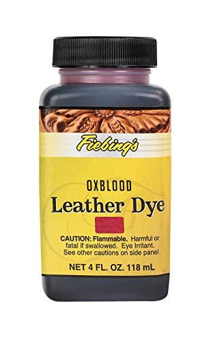 Fiebing's Leather Dye - Alcohol Based Permanent Leather Dye - 4 oz - Oxblood