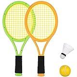 Seciie Jeu De Raquettes Tennis Badminton Set, 3 in 1 Jeux Exterieur pour 3 4 Ans