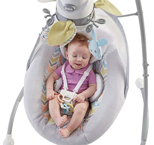 Fisher-Price Sweet Snugapuppy Swing, Dual Motion Baby Swing with Music, Sounds and Motorized Mobile