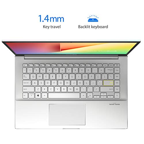 """ASUS VivoBook S14 S433 Thin and Light 14"""" FHD Display, Intel Core i5-10210U CPU, 8GB DDR4 RAM, 512GB PCIe SSD, Windows 10 Home, Dreamy White, S433FA-DS51-WH"""