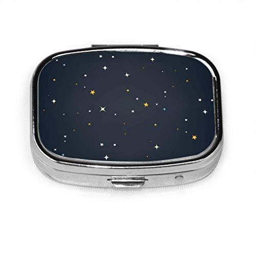 Blue Galaxy Secrety Space Simpatico astuccio per pillola Portapillole portatile Porta tablet Porta tablet Portaoggetti Organizer per tasca o borsa