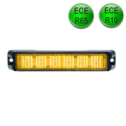 LED-MARTIN R65 Freeway Frontblitzer - 18W - orange - Schwertransport - Straßenräumer