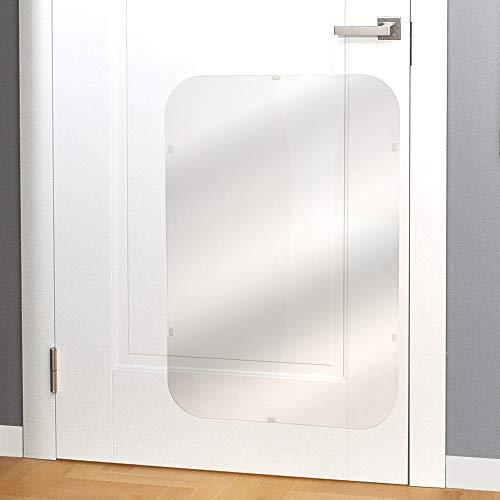 PROTECTO Kratzschutz für Türen – Hund & Katze Kratzschutz – 90 x 60 cm strapazierfähige Abdeckung, die Tiere daran hindert an Möbeln zu kratzen – Groß, Robust & Durchsichtig