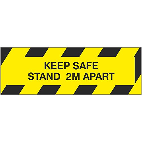 Pack of 4 MIND YOUR STEP 100mm x 148mm WARNING Warning Sign Removable Self Adhesive Label