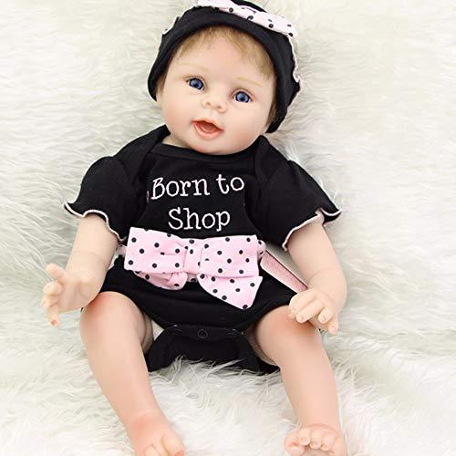 Bebe Doll Reborn Menina 55Cm Silicona Reborn Baby Doll Juguetes Regalo Adorable Realista Real Bebe Alive Toddler Bonecas Girl Doll,Blue Eyes