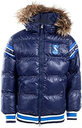 Horze Kids & Ponies Scout Padded Jacket with Faux Fur Hood Navy X-Small