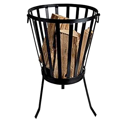 Garden Mile Fire Pits, Outdoor Garden Wood Burner, Firepit Garden Heating, Square or Bowl Shaped Fire Pits for Garden Heating or Wood Log Burner Cast Iron (Patio Brazier) from Garden Mile