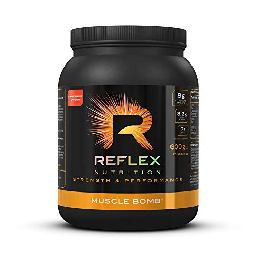 Reflex Nutrition Muscle Bomb Caffeine Ultimate PRE-Workout Powder 7g BCAA's 2g L-Carnitine 3.2g Beta-Alanine (600g) (Pink Grapefruit)