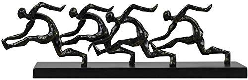 YYhkeby AK-Hauptdekoration Skulptur kreativer Charakter Sport-Schwarz-Harz-Dekoration Hotels Modell Zimmer Villa Mode Study Schmuck Handwerk Geschenk Jialele