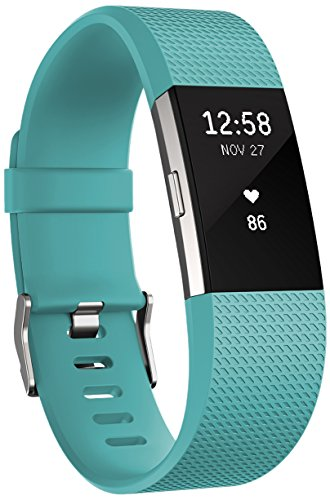 Fitbit Charge 2 Heart Rate + Fitness Wristband, Teal, Large (International Version)