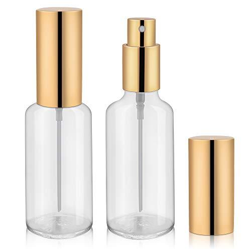 2oz Glass Spray Bottles, Perfume Bottles, Fine Mist Spray - 2Pack