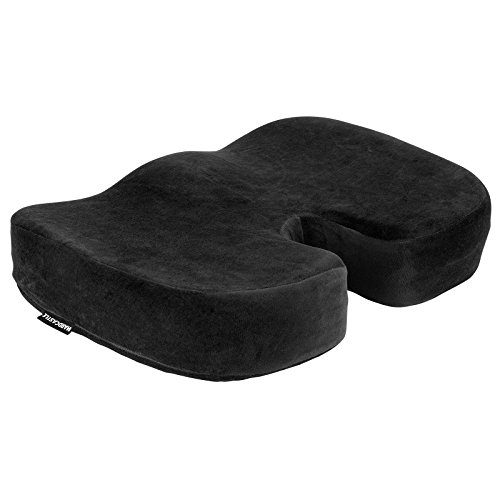 Hardcastle Plush Black Memory Foam Padded Seat Cushion