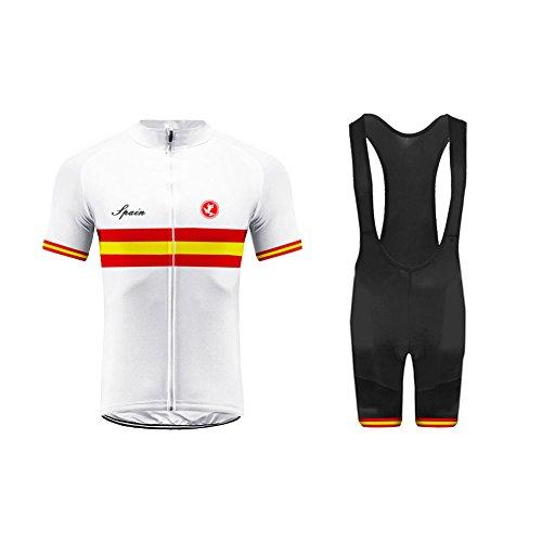 BurningBikewear Uglyfrog Mens Ciclismo Jersey Team Ciclismo Ropa Jersey Bib Shorts Kit Camisa de Secado rápido Ropa al Aire Libre de la Bicicleta Selección Nacional GQZ04