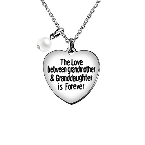 The Love Between A Grandmother And Granddaughter Is Forever Pearl Necklace For Grandchild Christmas Gifts