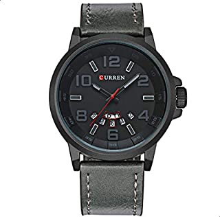 Curren Casual Watch For Men Analog Leather - 8240