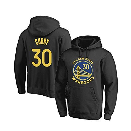 ZXVSD Herren Hoodie Hoodie Golden State Warriors # 30 Stephen Curry Unisex Fans Training Basketball Trikot, Langarm Pullover Sweatshirt für Sport und Freizeitkleidung-Black-XL