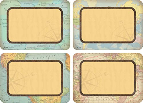 Teacher Created Resources Travel The Map Name Tags/Labels - Multi-Pack (TCR8574)