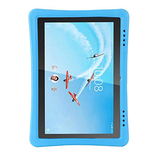 i-original Kids Case for Lenovo Tab E10(TB-X104F) 10.1 Inch 2019, 360 Rotating  Grip Ring Folding Handle Stand, EVA Lightweight Flexible Shockproof Protective Cover (Blue)